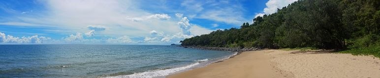 Southern headland of a north queensland cove royalty free stock images