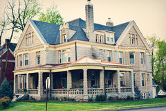 Southern Home with Wrap Around Porch Stock Images