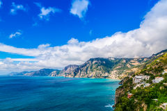 Southern Italy coast. Province of Salerno  comune on the Amalfi Coast (Costiera Amalfitana) Southern Italy Royalty Free Stock Photo