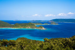 Southern Japanese islands from above Royalty Free Stock Photo