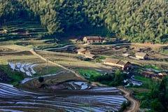 Pastoral scenery. In southern Jiangxi, hostel hut, terrace aspect, pastoral scenery Qianmo traffic royalty free stock photo