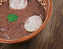 Southern Kidney Bean and Andouille Soup Stock Photo