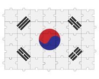 Southern Korea flag in form of puzzle stock photo