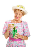 Southern Lady with Mint Julep Royalty Free Stock Photos