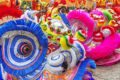 Southern Lion Dance at Eye Opening ceremony, Lady Thien Hau pagoda, Vietnam Royalty Free Stock Photos