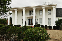 Southern Mansion. White columns adorn this stately southern mansion Stock Photography