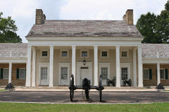 Southern Mansion with Cannon royalty free stock images