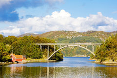 Southern Norway. Bridge and landscape of Southern Norway Stock Image