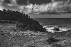 Southern Oregon coastline royalty free stock photo