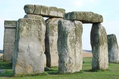 Southern part of England. Landscapes of royal palaces and prehistoric architectural constructions stock image