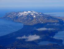 Southern part of  Jan Mayen island. From slope of volcano Beerenberg Royalty Free Stock Image