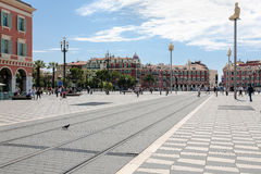 Southern part of the Massena Square in Nice Stock Image