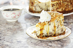 Southern Pecan Cheesecake Royalty Free Stock Image