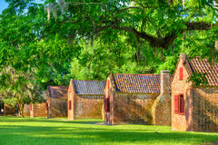 Southern Plantation Slave Quarters Stock Photography