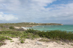 Southern Point on South Caicos. The most southern point at the South Caicos Coast Guard Royalty Free Stock Photo