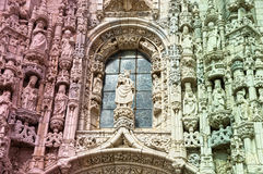 Southern portal of the Mosteiro dos Jeronimos in Lisbon Stock Photography