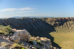The Southern Rim of Meteor Crater Stock Photo