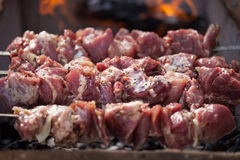 Southern roasted meat cooking Stock Image