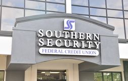 Southern Security Credit Union. Southern Security Federal Credit Union is a credit union for members Royalty Free Stock Photo