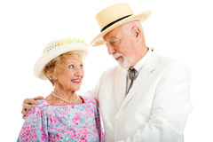 Southern Senior Couple - Flirting Stock Photos