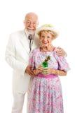 Southern Senior Couple - Flirting royalty free stock image