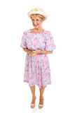Southern Senior Lady - Isolated royalty free stock image