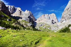 Southern side of marmolada Royalty Free Stock Photography