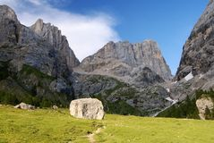 Southern side of marmolada Royalty Free Stock Photos