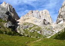 Southern side of marmolada- top of dolomiti italy Royalty Free Stock Photography