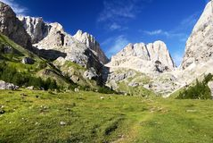 Southern side of marmolada- top of dolomiti italy Royalty Free Stock Images