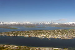 Southern side of Tromsoe. The southernmost side of Tromsoe's island, northern Norway, above the arctic circle royalty free stock photo