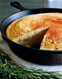 Southern skillet cornbread Royalty Free Stock Images
