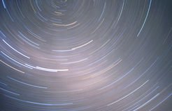 Southern Sky Star Trails. Star trails of the southern sky as seen from Antarctica Royalty Free Stock Image