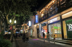 Southern Song Imperial street Hangzhou China. Southern Song Imperial street night cityscape in Hangzhou China royalty free stock photos