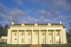 Southern style architecture of the Forest Lawn Cemetery, Los Angeles, CA Royalty Free Stock Image