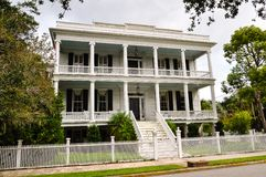 Southern style mansion Royalty Free Stock Photos
