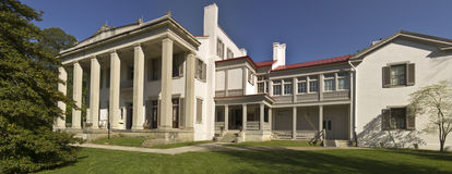 Southern-Style White Mansion (panoramic) Royalty Free Stock Images