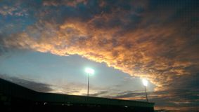 Southern sunset!. Picture of the ball park sky Stock Photos