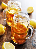 Southern sweet tea in a rustic jar Royalty Free Stock Images