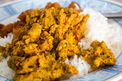 Southern Thai food, spicy food  on rice Stock Photo