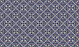 Southern tile pattern. Blue and white southern tile pattern, made from portuges tile pieces Stock Photo