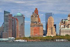 Southern Tip of Manhattan Stock Photos