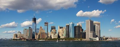 Southern Tip of Manhattan Skyline Stock Image