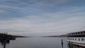 Southern Tip of Seneca Lake. Serene shot of the southern tip of Seneca Lake, as part of the Finger Lakes in upstate NY stock images