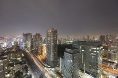 Southern Tokyo skyline as seen from World Trade Center. TOKYO cityscape at Hamamatsucho World Trading Center Royalty Free Stock Images