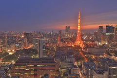 Southern Tokyo skyline as seen from World Trade Center Royalty Free Stock Photography