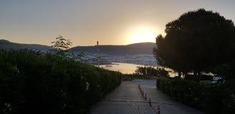 Southern Turkey. Sunset royalty free stock photo