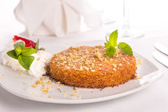 Southern Turkish Kunefe Dessert Served After a Nice Meal Stock Photography