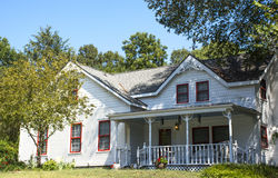 Southern USA White Farm House Royalty Free Stock Photo