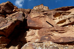Southern Utah Rock Art Royalty Free Stock Photography